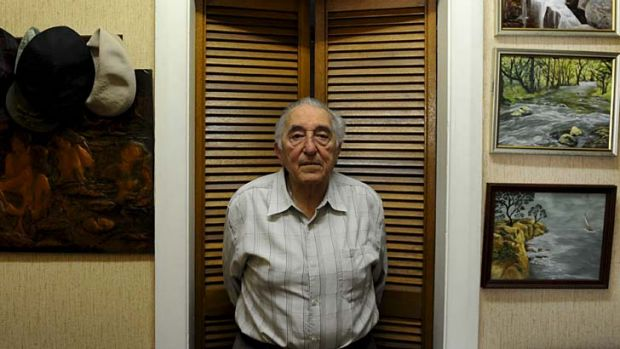 Doing it tough: Pensioner George Gergely, 88, at his Maroubra home.