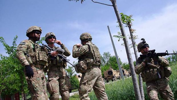 Hand over: Afghan forces are gradually taking over security responsibility as US-led international forces gradually ...
