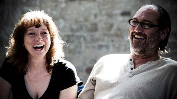 When art imitates life: Mandy McEilhinney and Colin Moody at rehearsal for <i>Forget Me Not</i>.