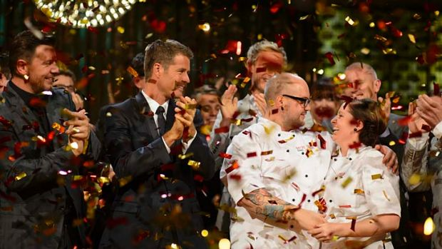 Reigning supreme: Dan and Steph Mulheron won this year's My Kitchen Rules series.
