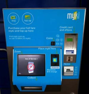 Out of order: myki machines at Williams Landing.