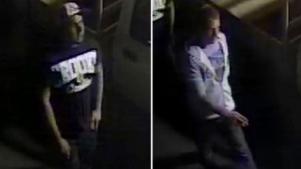 Vicious glassing ... Police believe these two men can help in their investigation.