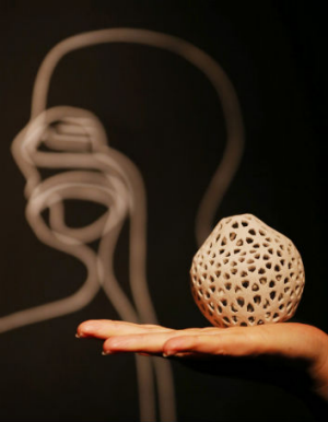 An example of the intricate designs possible with 3D printers