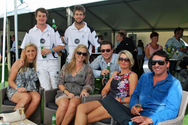 Guests and players at the inaugural Busselton Foreshore Polo. Photo: Jillian McHugh