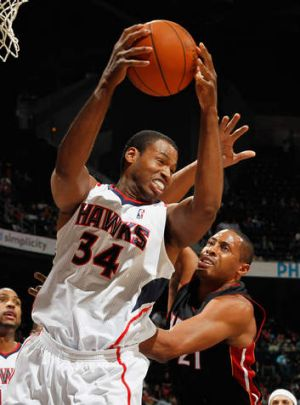 In action: Jason Collins.