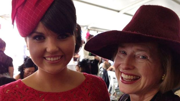 Stephanie Chambers with Gai Waterhouse at the Warrnambool races on Tuesday.