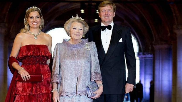 Change at the top:  Prince Willem-Alexander will take over from his mother Queen Beatrix, centre. The prince's wife, ...