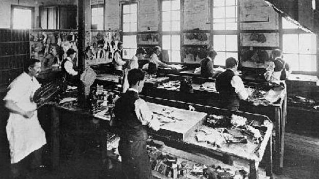 A sole survivor: the boot factory circa 1911.