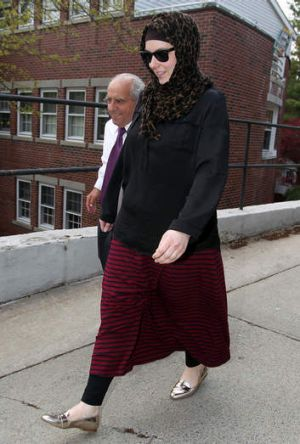 Suspicion: Katherine Russell, wife of Boston Marathon bombing suspect Tamerlan Tsarnaev.