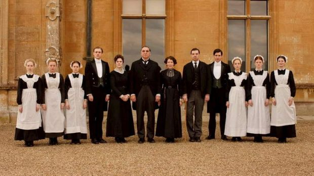 Spick and span: The servants in TV drama series <i>Downton Abbey</i>.