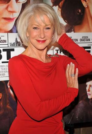 Helen Mirren: silver and sexy.