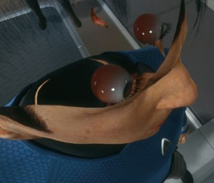 One of the more entertaining bugs lets you peek inside Spock and Kirk's heads.