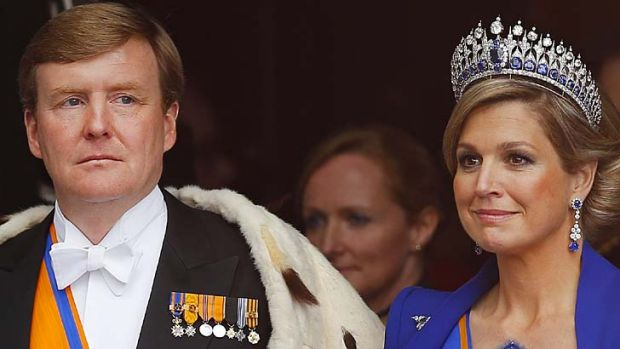 King and Queen:  Willem-Alexander and his wife Maxima.