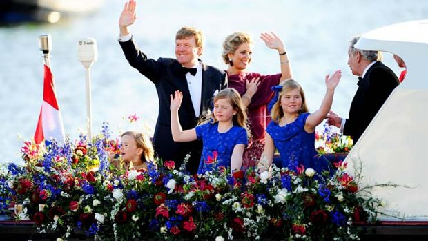 Royal family: Dutch King Willem-Alexander and Queen Maxima, with their three daughters.