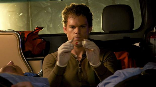 Michael C. Hall as Dexter.