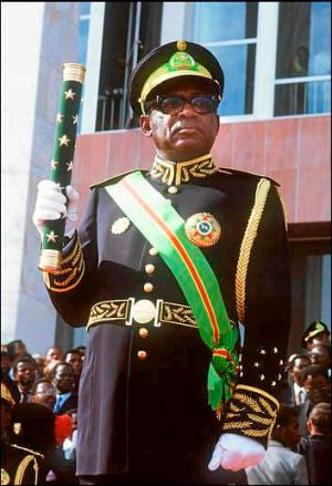 On the CIA payroll: Zaire's Mobutu Sese Seko, in 1984.