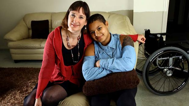 Naomi Anderson and her daughter Tabi Senda, 19, will benefit from the NDIS.