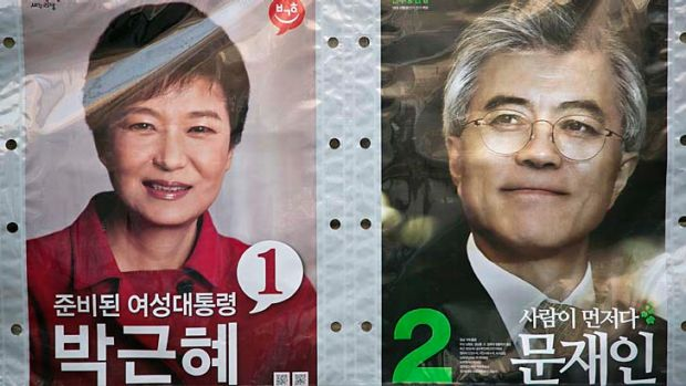Electioneering: Seoul's spying agency has been accused of helping to influence the recent election between Park Geun-hye ...