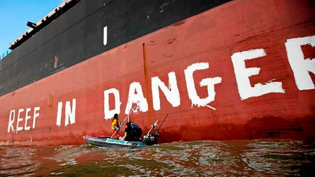 Energy shipments bad for the reef, environmental groups say.