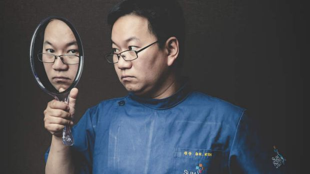 Mirror, mirror … cosmetic surgeon Dr Peter Kim.
