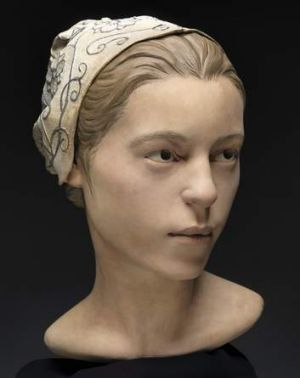 A forensic facial reconstruction of 14-year-old 'Jane of Jamestown'.