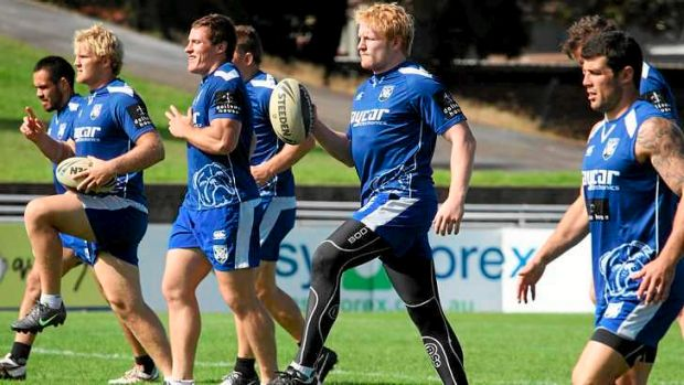 Ear he is: Bulldogs import James Graham (with ball) is ready to return.
