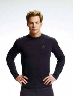 Enterprising young man: Chris Pine as Captain James T. Kirk in the 2009 film.