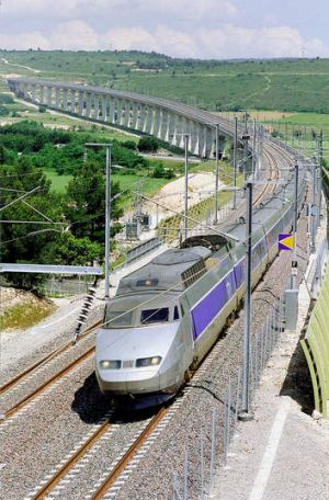 In dispute: The route of a high-speed train. Photo: AP