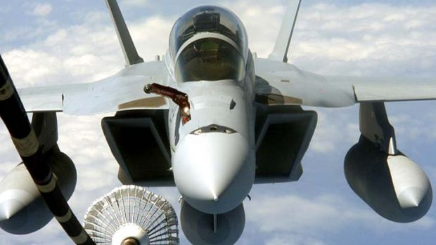 New strategy: The government is likely to purchase between 12 to 24 Super Hornets, pictured, to make up the gap in its ...