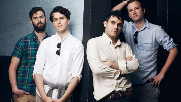 Returning home: (From left to right) Vampire Weekend's Chris Tomson, Ezra Koenig, Rostam Batmanglij and Chris Baio.
