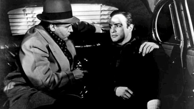 Rod Steiger, left, plays Marlon Brando's mob-connected brother in this image from On the Waterfront.