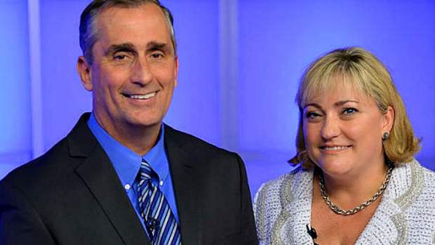 Intel CEO Brian Krzanich, left, and new president Renee James.