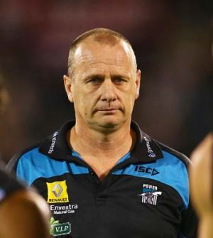 Unable to accompany his team due to a virus, Power coach Ken Hinkley will be able to communicate by phone with the ...