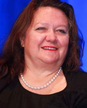 Rare exception: Gina Rinehart.