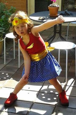Damon Young's daughter dressed as Wonder Woman.