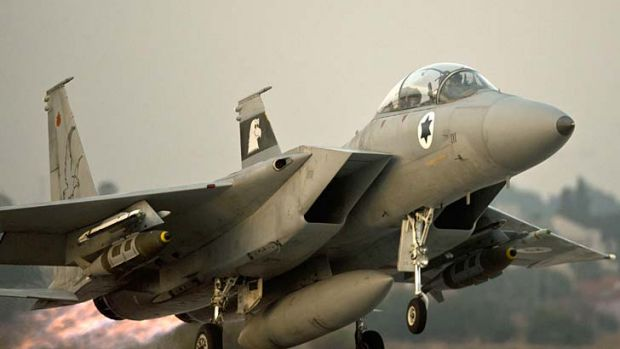Flashpoint: An Israeli warplane takes off. Israel would not comment on last week's air raid on Syria.