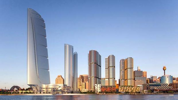 Options: Adrian Smith and Gordon Gill's Barangaroo proposal.