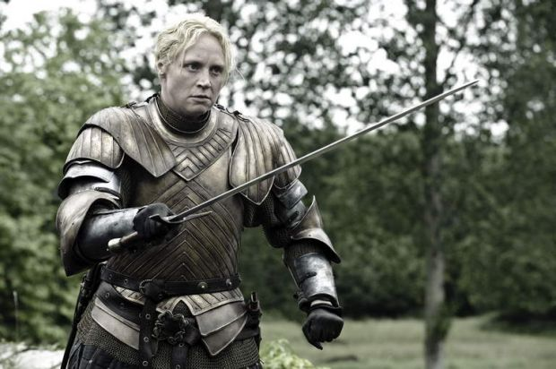 Gwendoline Christie as Brienne.