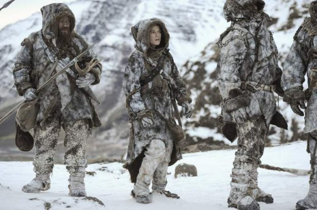 Rose Leslie as Ygritte (in the middle).