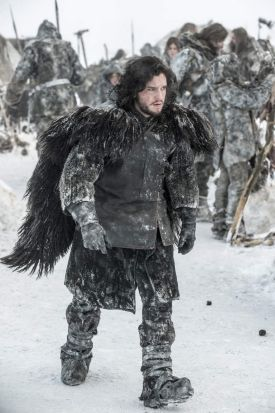 Kit Harington as Jon Snow.