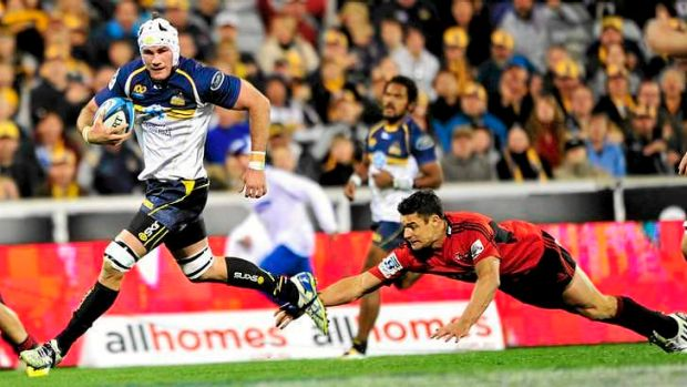 Contender: Brumbies captain Ben Mowen might be known as the unluckiest man in rugby but he makes Cully's squad to face ...