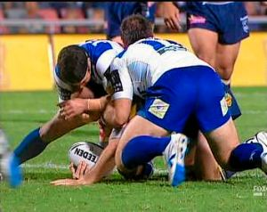 The penalty: The incident in the Cowboys-Bulldogs match in 2010 at the centre of the betting plunge case against three ...