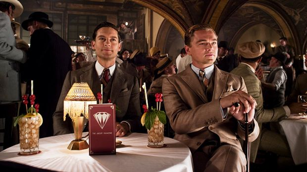 Tobey Maguire and Leonardo DiCaprio in Baz Luhrmann's new production of <i>The Great Gatsby</i>.