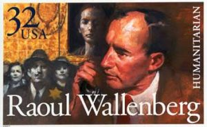 Wallenberg celebrated on a stamp.