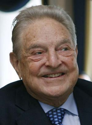 Billion dollar bet: George Soros.