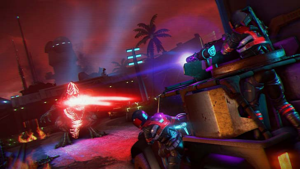 A screenshot from Far Cry 3: Blood Dragon.