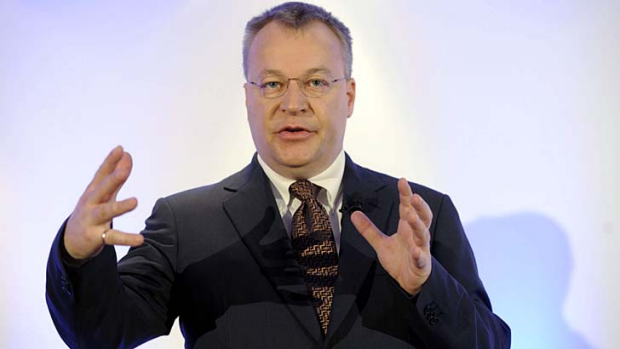 """""""We will compete with competitors like Samsung and Android"""": Nokia CEO Stephen Elop."""