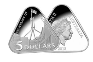 The new triangular $5 coin.