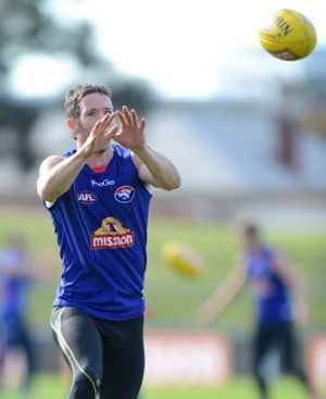Bob Murphy at Bulldogs training on Wednesday.