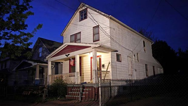 House of horrors: The home where the three women were found.